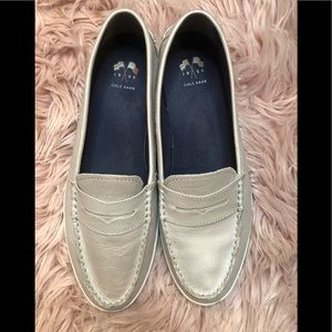 Cole Haan 1928 Silver Loafers